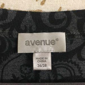 Avenue Sweaters - Avenue Shark Bite Hem Sweater